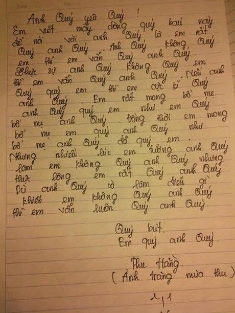 Nội dung lá thư