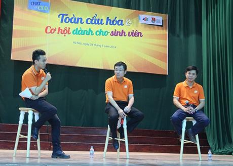 Các CEO trẻ tuổi chia sẻ kinh nghiệm với SV Bách Khoa