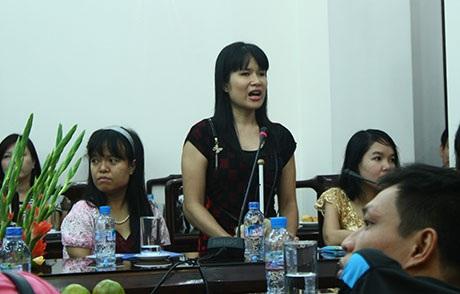 Chị Đỗ Thúy Hà - Chủ tịch Hội Người mù quận Đống Đa, Hà Nội
