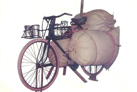Xe đạp thồ của ông Trịnh Ngọc đạt thành tích 345,5 kg/chuyến trong chiến dịch Điện Biên Phủ