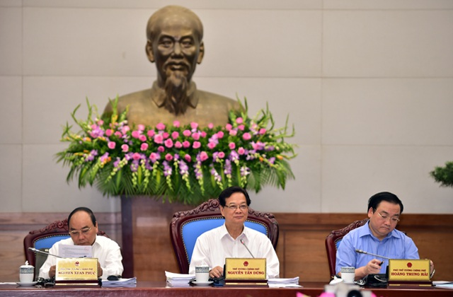Thủ tướng Nguyễn Tấn Dũng đã chủ trì phiên họp Chính phủ thường kỳ tháng 5/2015.