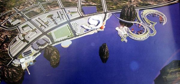 Phối cảnh khu khách sạn, dịch vụ cao cấp, cảng du thuyền. Ảnh: Cổng TTĐT Quảng Ninh