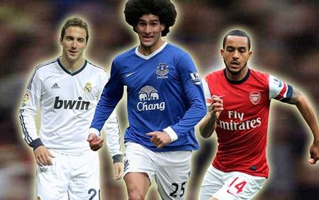 Cả Fellaini và Higuain đều đòi lương bằng hoặc cao hơn mức kịch trần Walcott đang lĩnh ở Arsenal