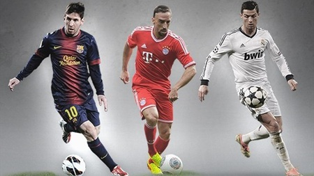 """Messi, C.Ronaldo, Ribery tranh giải """"Cầu thủ xuất sắc nhất châu Âu"""""""