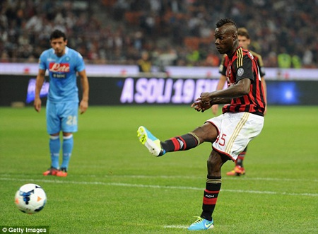 Balotelli lại phải trả giá vì thói bốc đồng của mình