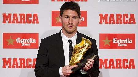 """Messi thêm một lần nữa đoạt được danh hiệu """"Chiếc giày vàng châu Âu"""""""
