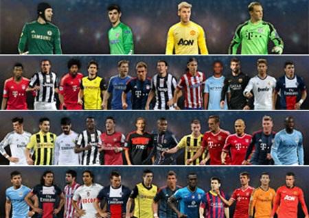 40 đề cử của UEFA không hề xuất hiện bóng dáng của người Anh