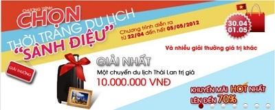 Mua hàng chính hãng trên Chon.vn trúng thưởng du lịch Thái Lan