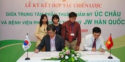 Năm 2009 Ths.Bs Nguyễn Hữu Nam ký kết hợp tác thẩm mỹ với bệnh viện thẩm