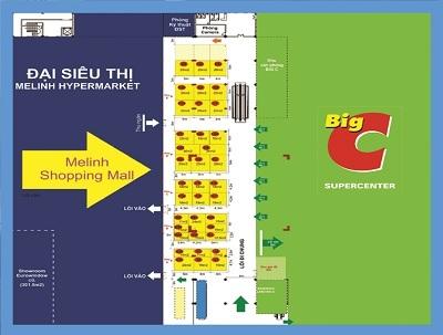 Mặt bằng Quy hoạch Trung tâm mua sắm Melinh Shopping Mall