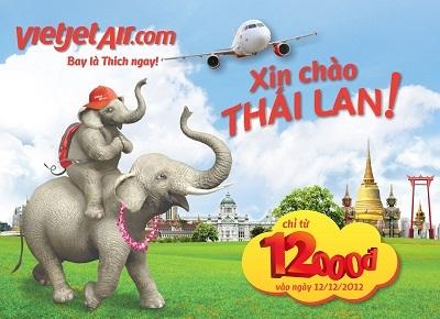 Bay đến thiên đường giải trí Thái Lan chỉ với 12.000 đồng