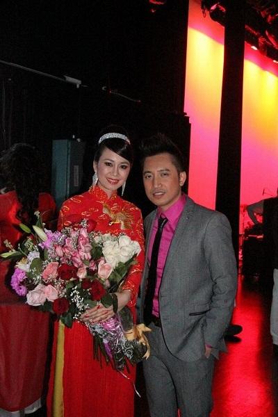 Hoa hậu Mỹ Vân với ca sĩ Huy Vũ