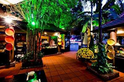 Không gian vườn tại 18 Phan Bội Châu.