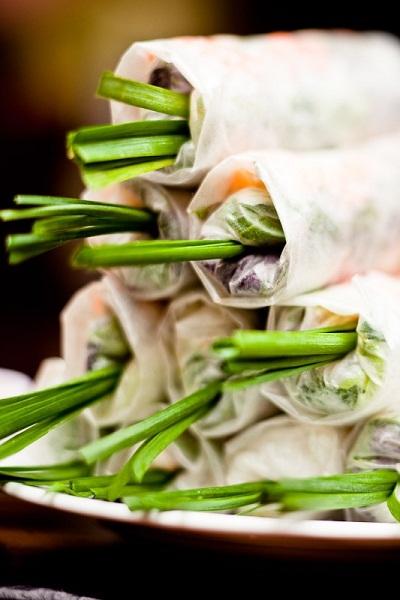 Gỏi cuốn tại Quán Ăn Ngon – Một trong những món ăn của Việt Nam được ghi vào kỷ lục Châu Á.