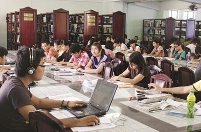 Thư viện của trường với nguồn học liệu phong phú, đa dạng