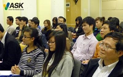 Một lớp học áp dụng phương pháp Đào tạo gia tốc.