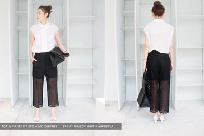 Những set đồ black - white không bao giờ lỗi mốt đến từ thương hiệu Stella Mc Cartney