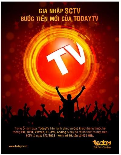 Gia nhập hệ thống SCTV - Bước tiến mới của kênh TodayTV