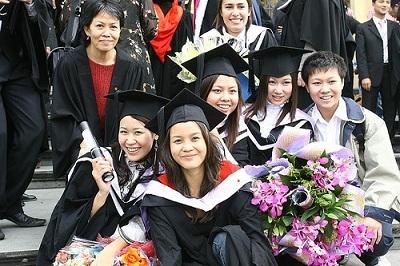 Việt Nga tại lễ tốt nghiệp Đại học RMIT Việt Nam.