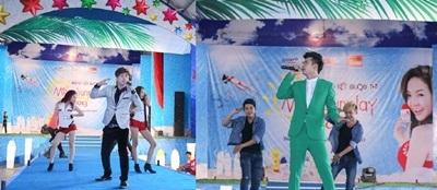 Ca sĩ Hồ Quang Hiếu, Hồ Vĩnh Khoa khuấy động sân khấu với những bài nhảy sôi động