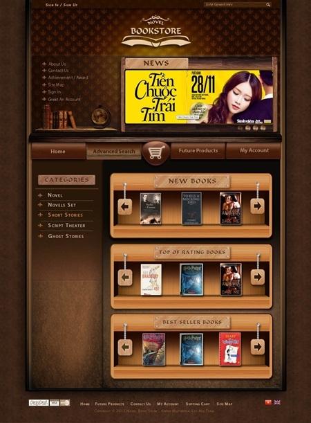 Bài tập thiết kế website của học viên Arena Multimedia.