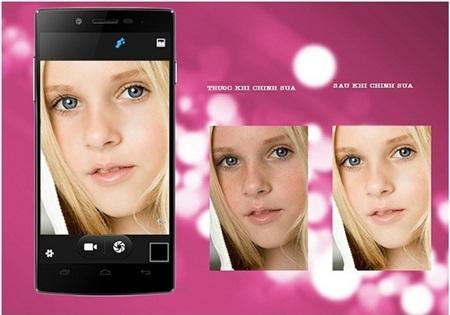 Camera trước 5.0Mp kèm phần mềm chỉnh sửa chuyên nghiệp cho ra bức ảnh đẹp hoàn hảo