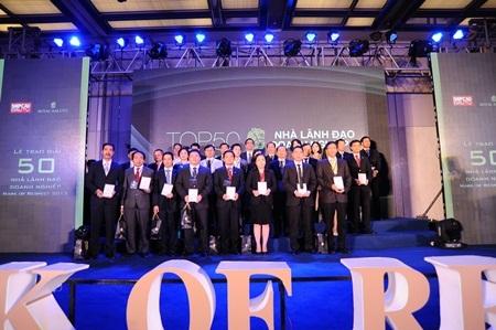 """Các nhà lãnh đạo xuất sắc trong đêm trao giải """"50 Nhà Lãnh Đạo Doanh Nghiệp – Mark of Respect"""""""