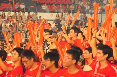 Không khí sôi nổi tại cung thể thao Tiên Sơn