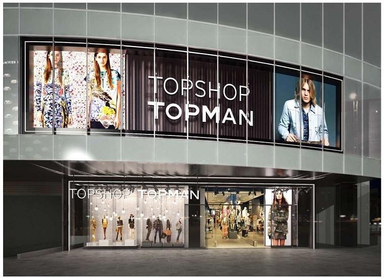 Cửa hàng TopShop Topman tại tầng trệt & tầng 1 TTTM Icon68