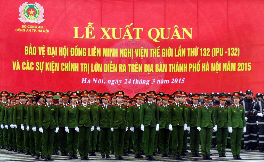 Công an Hà Nội huy động tối đa lực lượng bảo vệ IPU-132