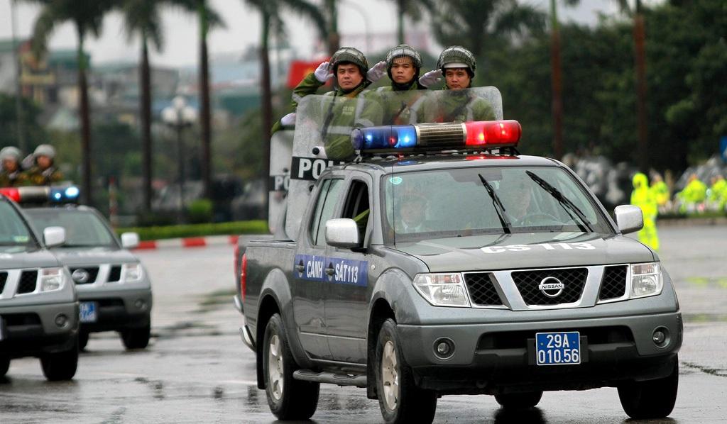 Xe của lực lượng Cảnh sát 113.