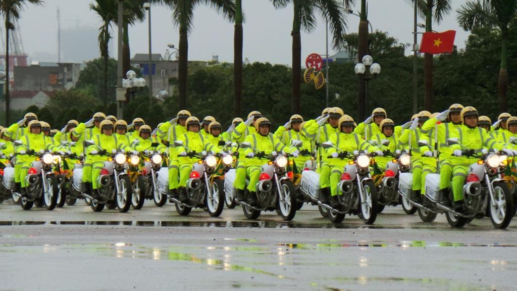 Xe mô tô của lực lượng Cảnh sát giao thông.