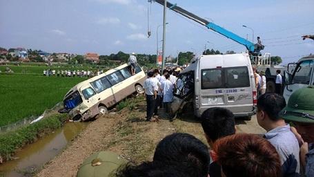 Hiện trường vụ tai nạn chiều 30/3.