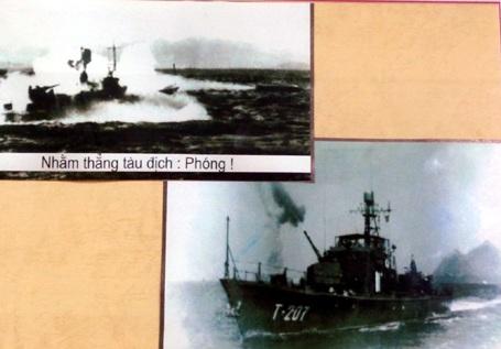 Tàu của Phân đội 7 đánh trả máy bay địch trên vùng biển Đông Bắc.