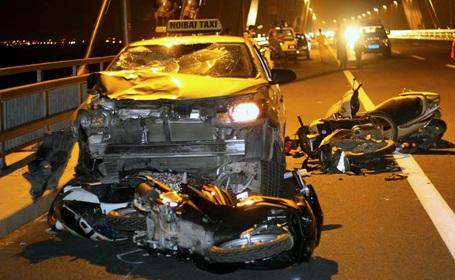 Hiện trường vụ tai nạn. (Ảnh: CTV)