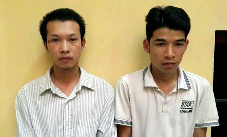 Hai đối tượng Tiến (trái) và Trung.