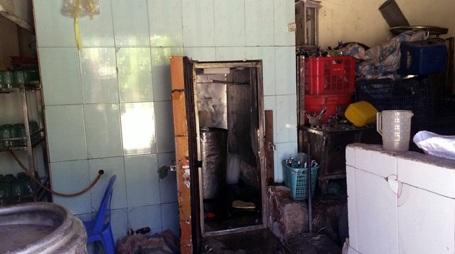 Hầm lạnh bảo quản bia, nơi xảy ra vụ việc.