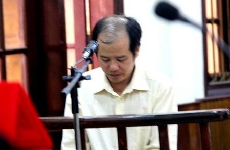 Bị cáo Lương Văn Chiến tại phiên tòa