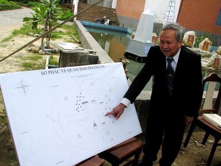 Sơ đồ phác thảo quần đảo Hoàng Sa của tác giả Phạm Khôi