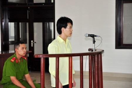 Nguyễn Thành Trung tại phiên tòa ngày 15/5