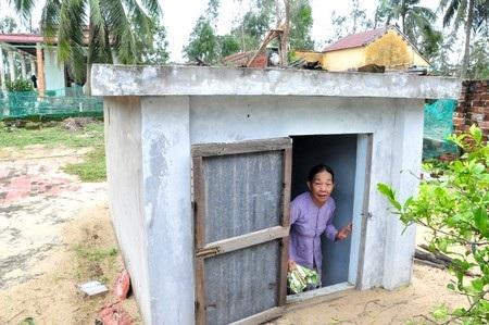 Đây là căn hầm trú bão của bà Chấp