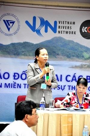 Bà Trần Thị Kim Hoa -người dân nơi rốn lũ huyện Đại Lộc (Quảng Nam).