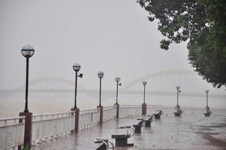 Tại TP Đà Nẵng sáng nay 15/11, trời có mưa rất to