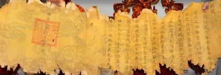 Bức chiếu chỉ rất có giá trị trong nghiên cứu lịch sử Thành Điện Hải
