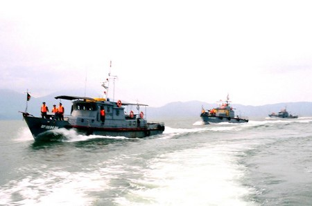 Lực lượng Bộ đội Biên phòng Đà Nẵng tuần tra trên vùng biển chủ quyền