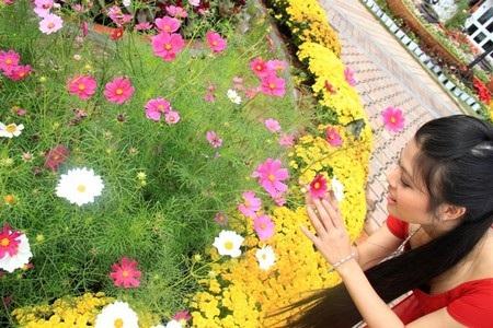 Thích thú với hoa