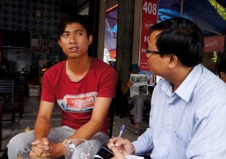Em Võ Thanh Trung kể với phóng viên về việc qua Nhật du học