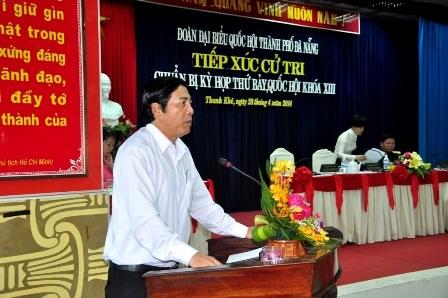 Ông Nguyễn Bá Thanh trả lời ý kiến cử tri TP Đà Nẵng