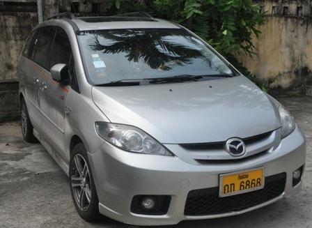 Xe ô tô thu giữ của Minh khi bắt quả tang Sang tại phía nam hầm Hải Vân