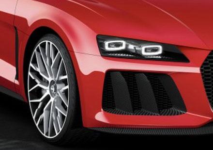 Audi đưa đèn laser lên chiếc Sport Quattro Concept